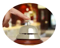 image sonnette d'accueil d'hôtel